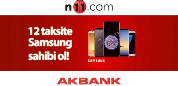 n11 akbank samsung telefon 12 taksit